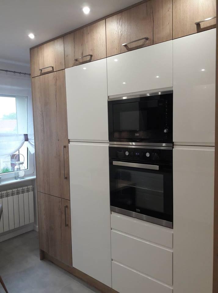 Kuchnia lakier + drewno - Kuchnie na wymiar - Gostyń, Pogorzela, Jarocin, Krotoszyn, Rawicz, Poznań